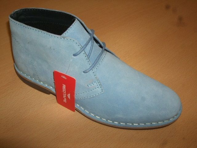 Mens Red Tape Gobi Sky Blue Suede Lace Up Ankle Desert