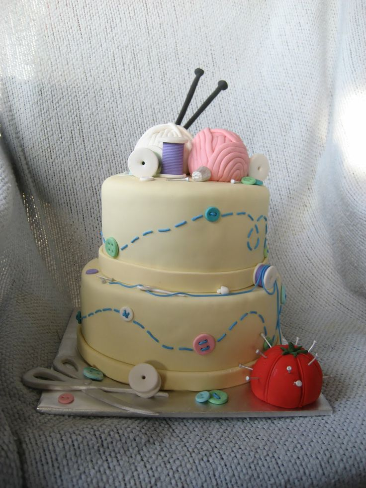when (if) I get married, do you think my husband/fiance would mind a sewing and knitting wedding cake? Maybe add a fondant crocheted doily in there as well.