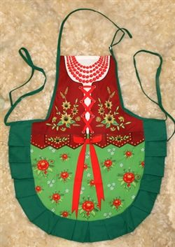 Delightful cooking apron with a colorful authentic Goralka (Podhale mountain) costume design, This apron makes a perfect gift for anyone loo...