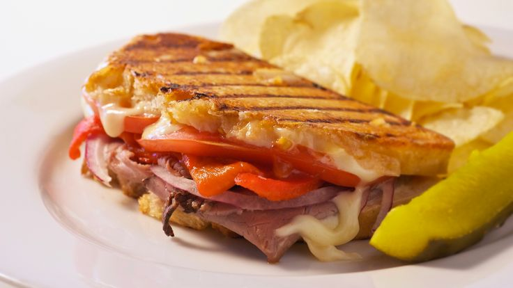 Italian Roast Beef Panini Recipe. The roasted garlic mayonnaise is the key to this dish. Called aioli, this classical French sauce is a blend of roasted garlic puree, olive oil, mustard, and egg yo…