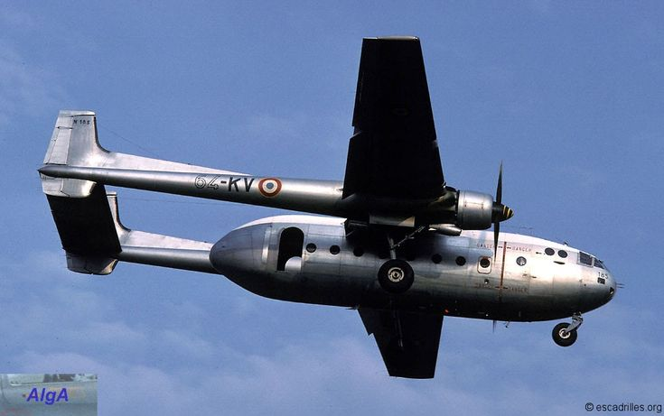 Nord 2501 Noratlas of French Armée de l'Air, ET 64 of BA-128, pictured in 1981. Transport & paradrop aircraft.
