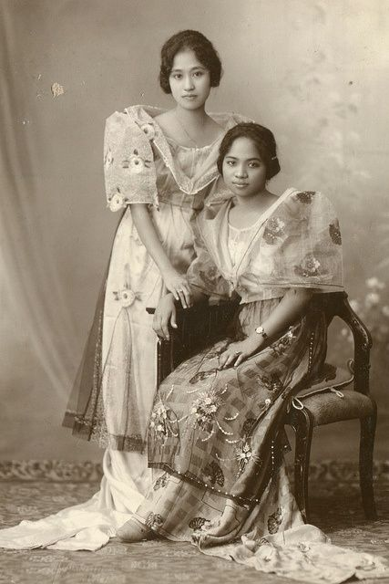 Historical Orignals Filipino Women Wearing The International Dresses Terno Baro 39 T Saya