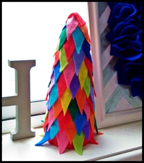 Rainbow tree, tooth fairy tree, secret tree or Christmas tree, It can be whatever you want it to be!!! - $15. (postage not included) Standing approximately 19cm high, this felt tree is hollow (you could hide little items underneath if you wanted).  Made to order with one or multiple colours.   To order please email info@ohemgee.co.nz