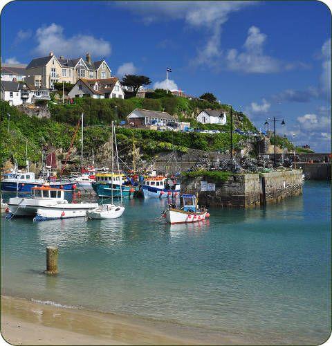 Newquay aan de kust van Cornwall, Engeland