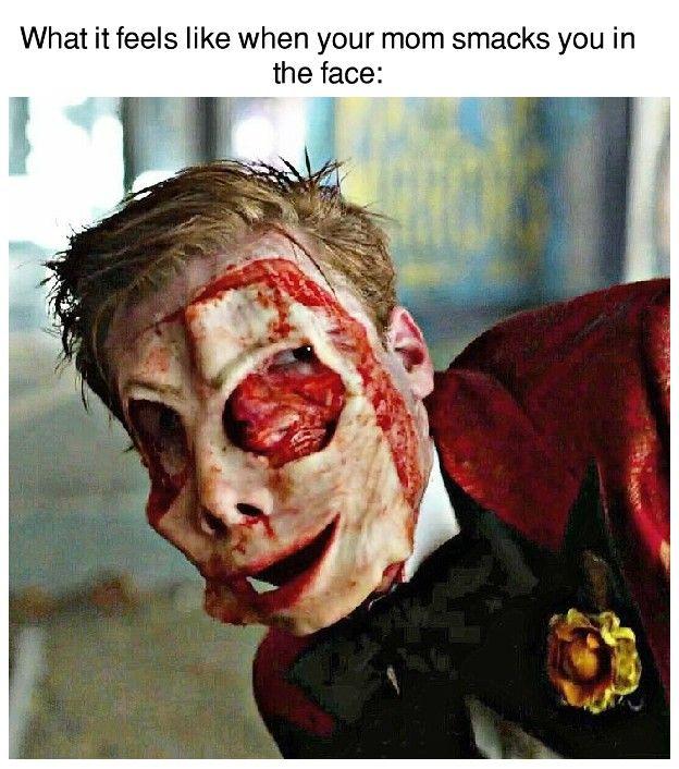 It hurts like hell  ... Cameron Monaghan ... Jerome Valeska ... Gotham ... Gotham Memes ... Ian Gallagher ... Shameless ... Meme ...