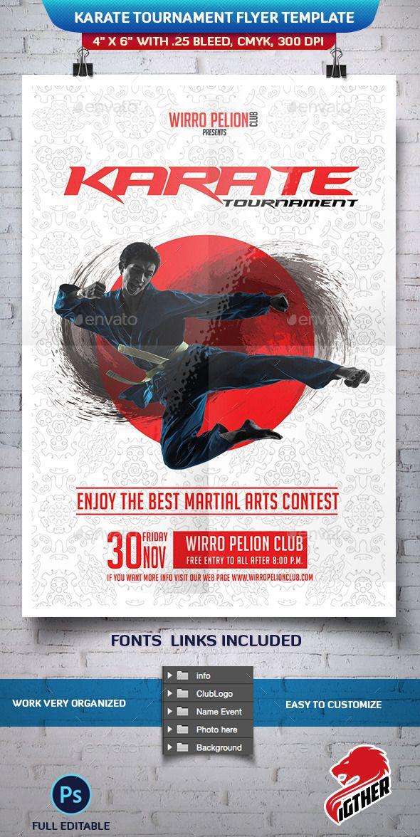 Karate Tournament Flyer Template