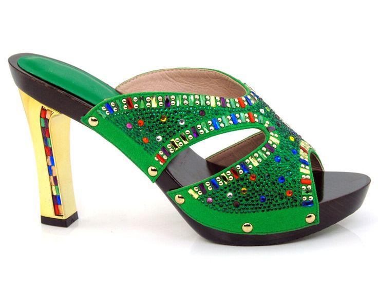 Grün, garantierte qualität Afrikanischen sandalen für party, schöne damen schuhe mit strass!!! HYY1-5 //Price: $US $53.32 & FREE Shipping //     #clknetwork