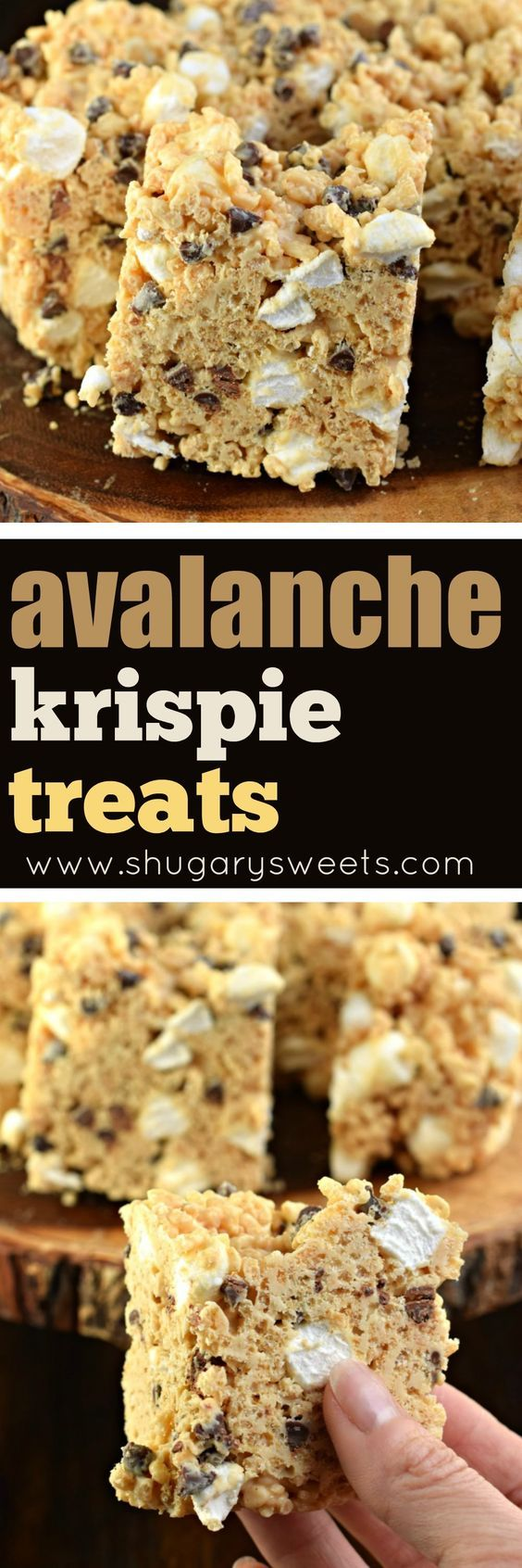 Avalanche Krispie Treats are made with peanut butter and white chocolate. Melt in your mouth, chewy and delicious!