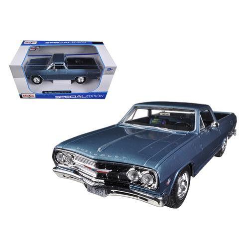 1965 Chevrolet El Camino Blue 1/25 Diecast Car Model by Maisto