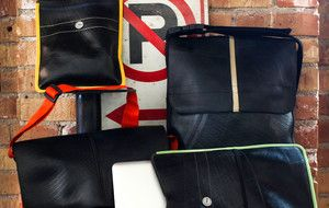 this luggage set is made out of recycled tires...How cool is that!