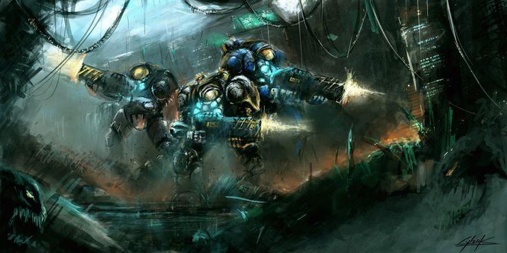 Starcraft 2 Heart of the Swarm platform by VitoSs.deviantart.com
