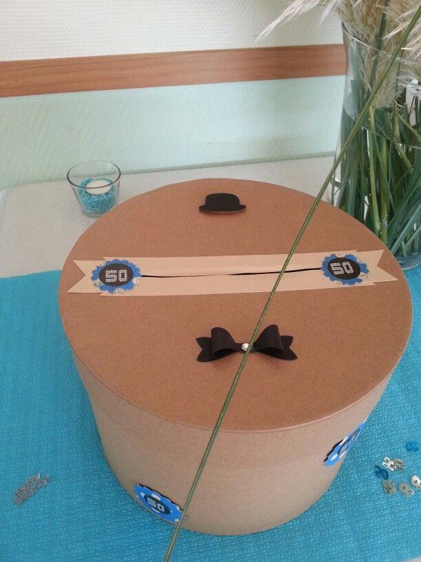 Boîte ( urne ) pour anniversaire