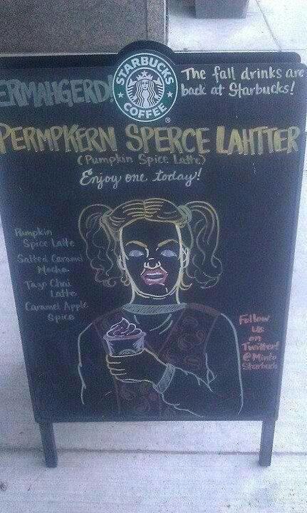 Priceless. Well played Starbucks.: Laughing, Giggl, Funny Stuff, Humor, Hilarious, Pumpkin Spices Latte, Sperc Lahtter, Starbucks, Permpkern Sperc