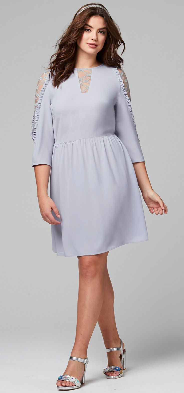 17 best images about plus size fashion on pinterest plus for Cocktail dress with sleeves for wedding