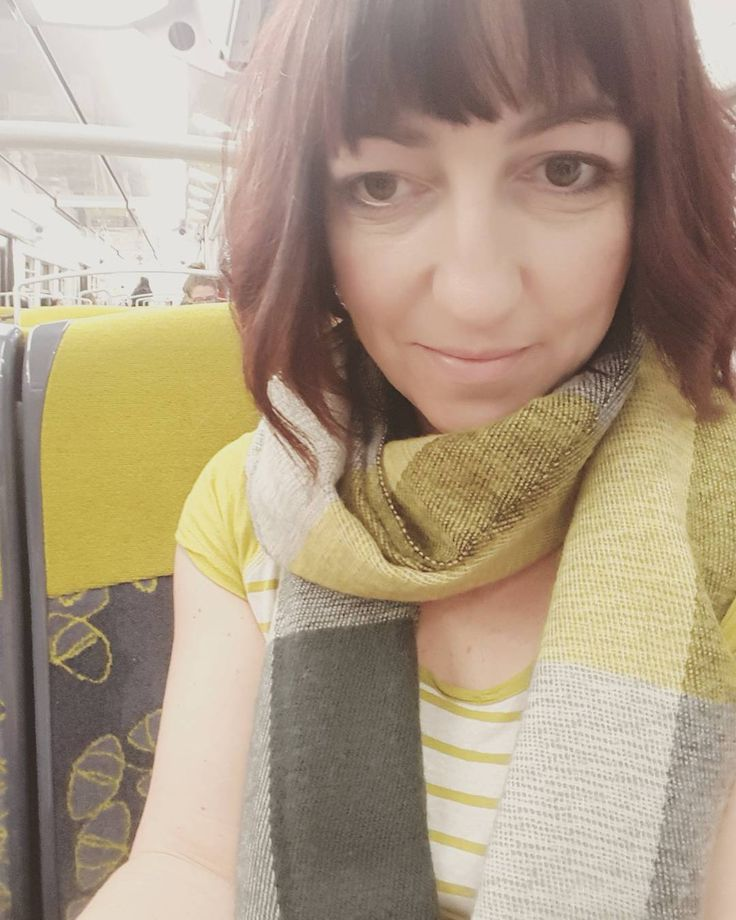 Look! I match the seats on the RER Train to Paris! #mustardandgrey #grellow