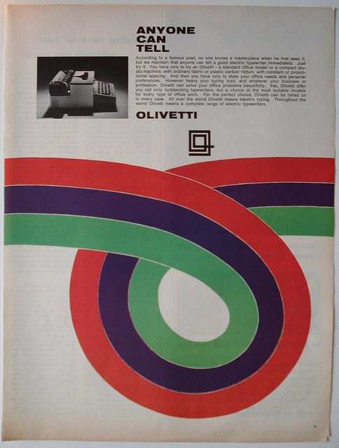 advertisement for Olivetti by Giovanni Pintori (1967)