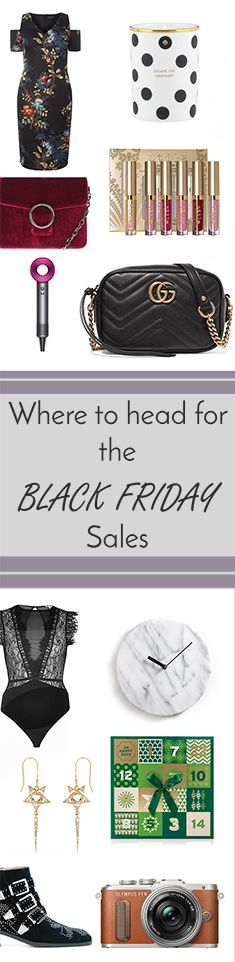 Where to head for your Black Friday Shopping including the best sites for fashion, beauty, tech and homeware.
