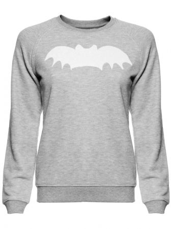 Bat Sweatshirt - Heather Grey