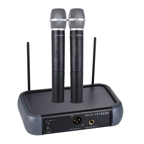 Shop best eu ammoon Dual Channel VHF Wireless Handheld Microphone System with Echo Function for Karaoke Family Party Performance Presentation Public Address from Tomtop.com at fast shipping. Various discounts are waiting for you!