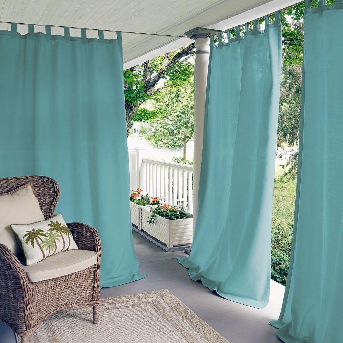 Highland Stripe Indoor Outdoor Window Curtain For Patio Pergola Porch Cabana Deck Lanai Elrene Home Fashions In 2020 Indoor Outdoor Curtains Outdoor Curtains Elrene Home Fashions