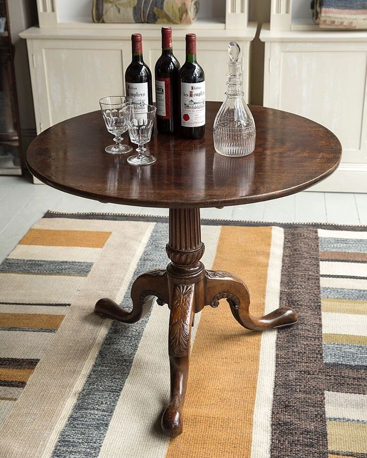 A Bold U0026 Fine Early George III Tripod Table In East Indies Mahogany In  Wonderful Original