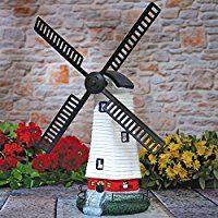 Garden and lawn windmills for sale. These include wooden, metal, Dutch, plans and kits.