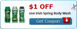 New Coupon!  $1.00 off one Irish Spring Body Wash - http://www.stacyssavings.com/new-coupon-1-00-off-one-irish-spring-body-wash-3/