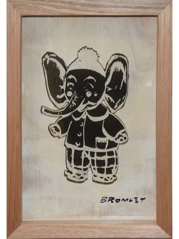 David Bromley - Elephant - Acrylic Art Work
