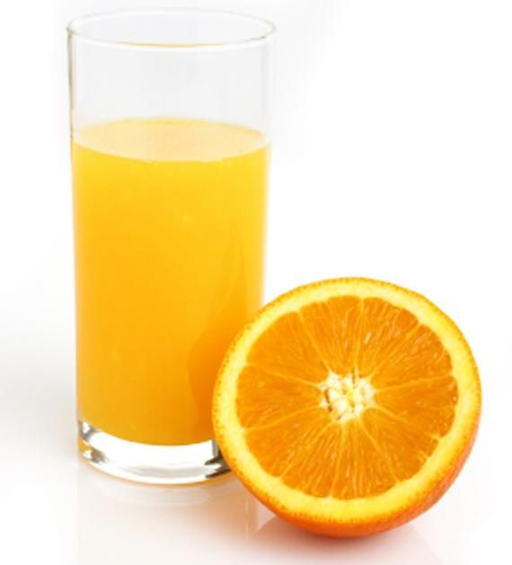Narancslé és víz: