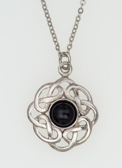 Eternal Interlace Pendant with Rounded Stone , Jewellery | The Scotland Kilt Company