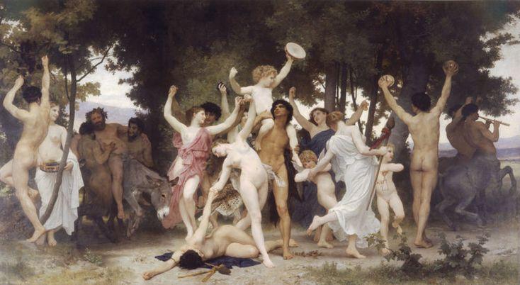 """El #carnaval es una de las tradiciones más antiguas del mundo. Parece que esta festividad se celebraba en las antiguas Sumeria y Egipto hace más de 5000 años. Después pasó a la antigua Grecia (fiestas en honor de Dionisus) y más tarde a Roma (Baco), desde donde se expandió la costumbre por Europa. Llegó a América gracias a navegantes españoles y portugueses a partir del siglo XV. Imagen: """"La juventud de Baco"""" William Adolphe Bouguereau 1884 #carnival"""