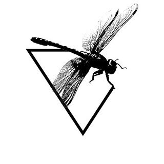Anatomie d'un Caractère: 3 Dragonfly for tatoo  #dragonfly, #drawing, #geometric, #wings, #illustration, #pattern, #tatoo, #thin, #triangle