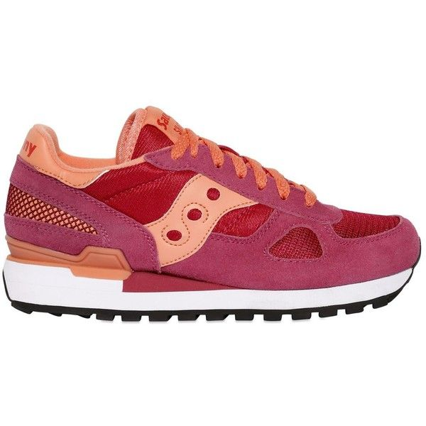 Saucony Women Shadow Suede & Mesh Sneakers (€145) ❤ liked on Polyvore featuring shoes, sneakers, saucony, saucony sneakers, saucony shoes, mesh shoes and rubber sole shoes