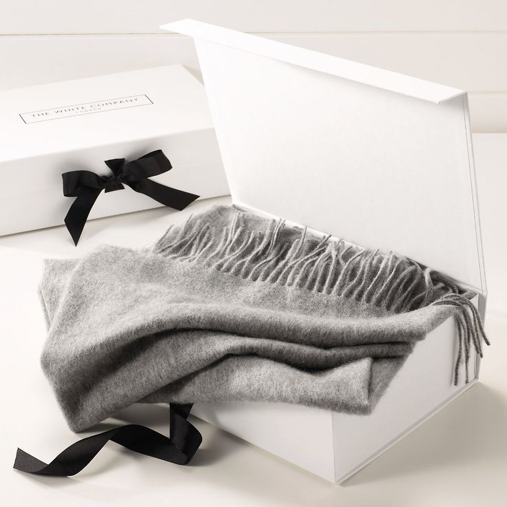 Gorgeous packaging from The White Company - Plain Cashmere Throw - Bedspreads & Cushions | The White Company