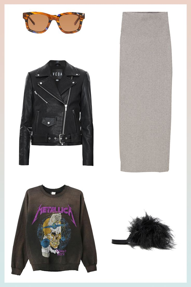 How To Look Good When You Feel Gross #refinery29  http://www.refinery29.com/comfortable-stylish-outfits-travel-loungewear#slide-3  When You're HungoverLast night was mad real — this morning, not so much. Get yourself together enough for brunch with a graphic pullover, a sweater skirt, and some sick shades (Sunlight? No thanks.). Keep the party going with the same moto jacket you wore last night and some eye-catching shoes that'll distract from whatever your hair is doing.Sun…
