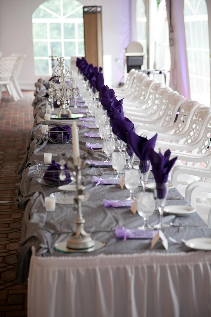 Purple And Grey Linens For Our Wedding Purple Green And Gray Pinterest