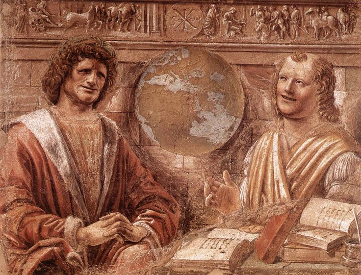 due filosofi  Democrito ed Eraclito