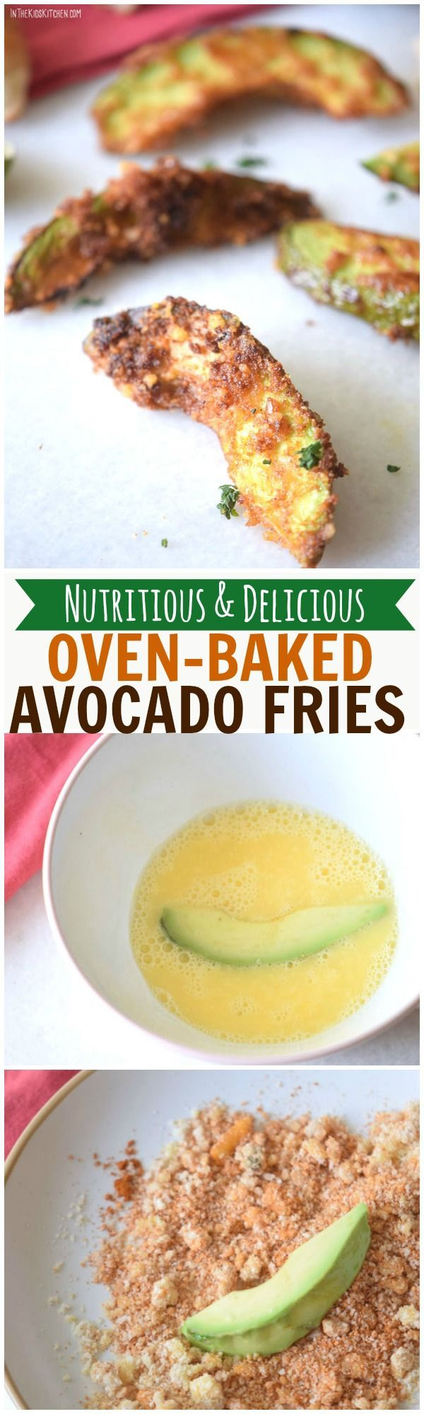 A nutritious (and delicious) alternative to greasy french fries, these Baked Avocado Fries are packed with vitamins and fiber. Plus they're easy to make!