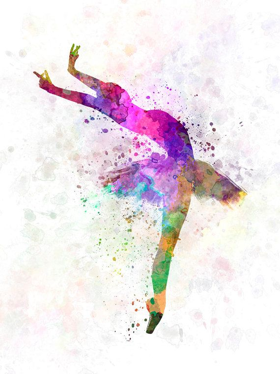 Woman ballerina ballet dancer dancing 05  SKU 0580 por Paulrommer