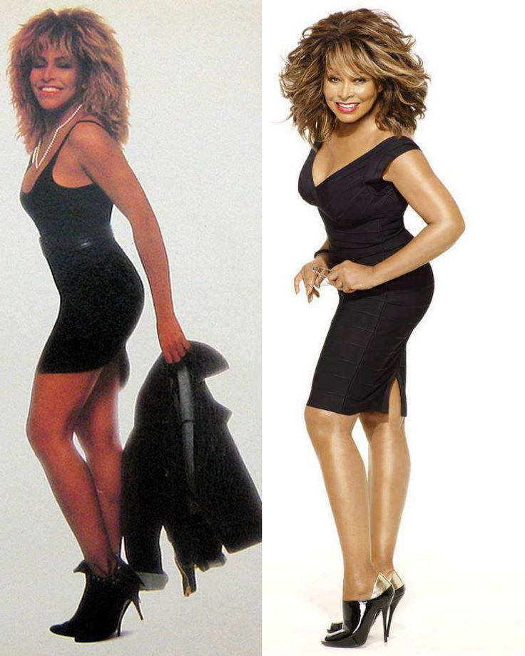 Tina Turner Then & Now!!! She will always look good and have those great legs!