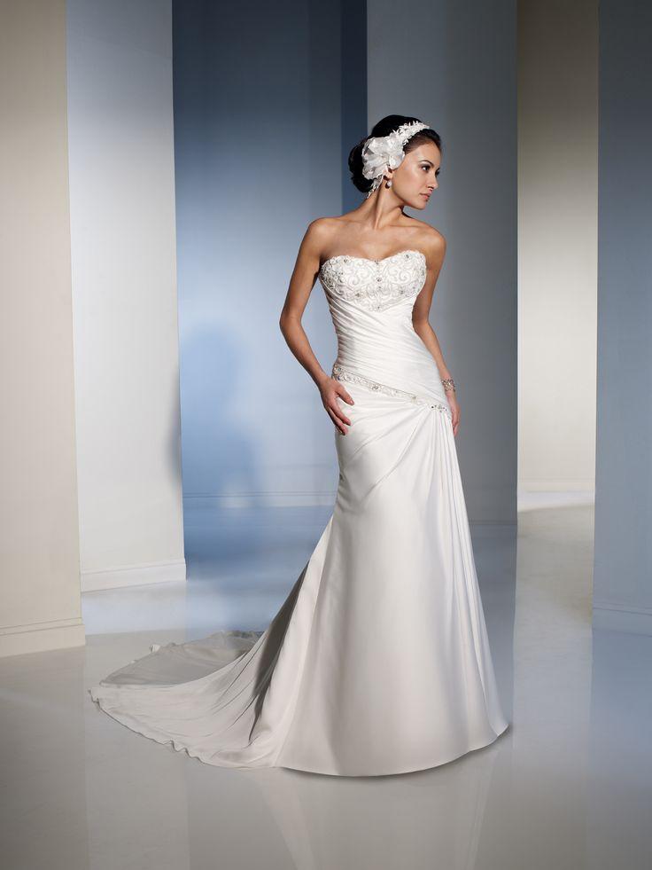 Spectacular Lace up Empire Satin A line Glamorous Wedding Dress