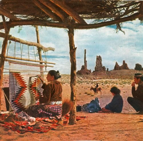Navajo weaving I can only begin to imagine the peace that must come into your soul sitting upon our Mother's breast, the sun warming your body, looking out at Creator's beauty surrounding you and letting go, letting spirit work through your hands to create such beauty upon this loom.