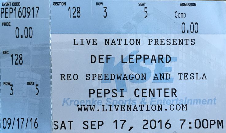 Def Leppard - Live in Denver, CO 17-09-2016