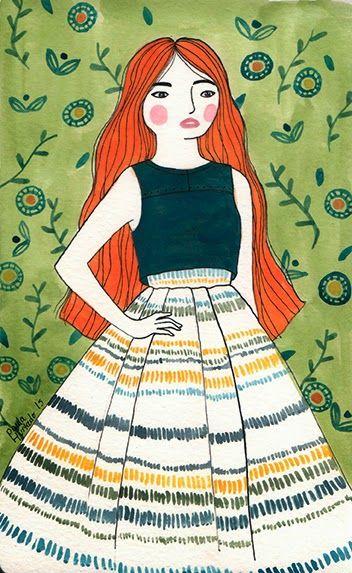 El bosque entintado: Ilustración de moda   Paula Hurtado Arenas #fashion #illustration #gouache