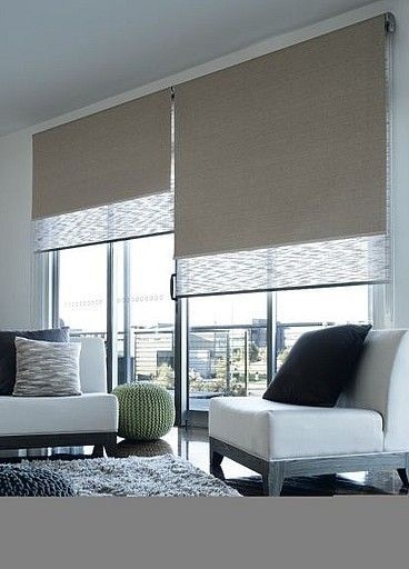 "Dual Roller Blinds - Remodelista Shelley Sass Designs is a full service Interior Design and Home Staging Agency in San Diego. Contact us today on 858-255-9050. www.shelleysassdesigns.com  ""Beautiful Home, Beautiful Life"""