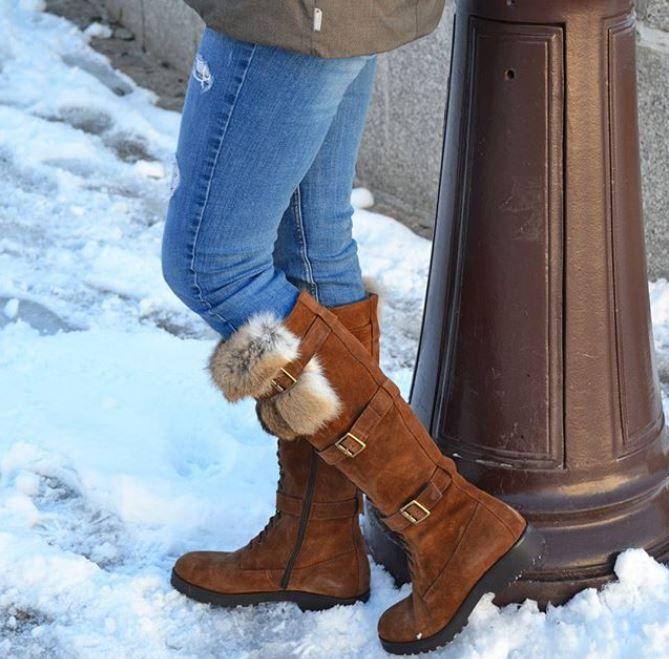 Chaussures d'hiver - Bottes Classiques Chaussures Chaudes Confortables - Marron xCveZy8