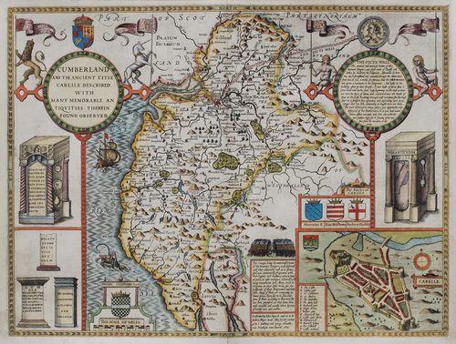 Antiques Atlas - John Speed Map Of Cumberland