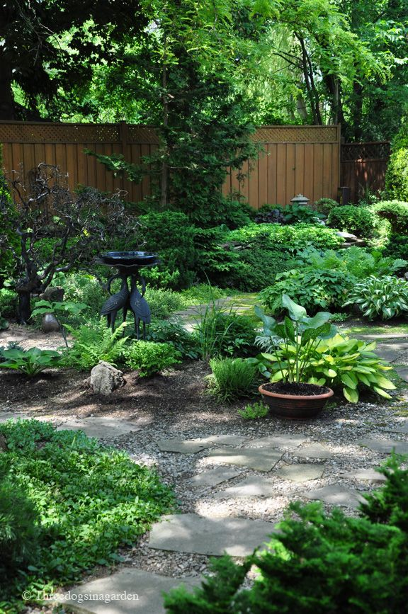 Fabulous shade garden. I am halfway there in my back yard and this gives me hope that mine can eventually look this good!