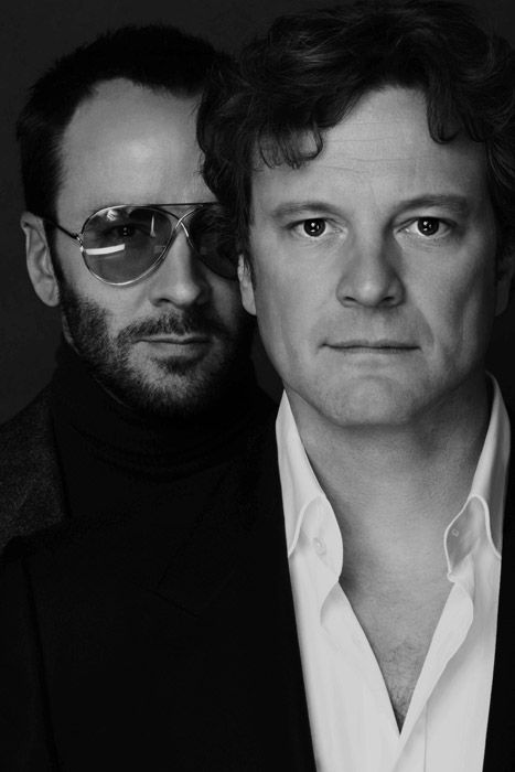 Tom Ford & Colin Firth | by Nigel Parry