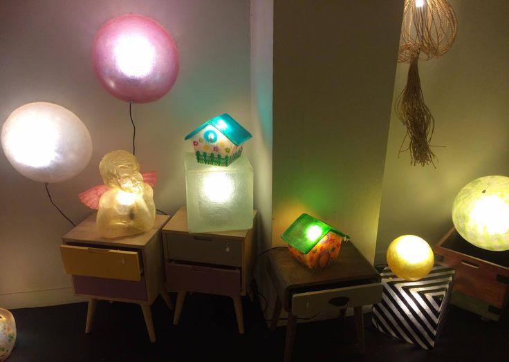 We💙 to light you up! Καλημέρα  #Gshoppers! #αγαπούλες #Gshop_optimism Κλίκ εδώ: https://www.etsy.com/listing/173129229/bird-houses-fiberglass-lamps?ref=hp_rv